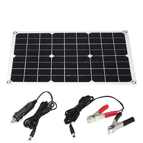 30W 18V Módulo de Panel Solar monocristalino de enjoysolar, Ideal para el jardín o la Caravana para Furgoneta, Autocaravana, Caravana, Barco, Cabina, Remolque, Caravana, Coche