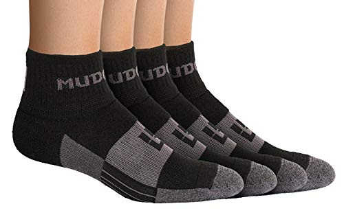MudGear Quarter Length Trail Running Socks - Men and Women - Running, Hiking, Cycling, and More, 2-Pack