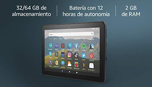 Nuevo tablet Fire HD 8, pantalla HD de 8 pulgadas, 64 GB, negro, sin ofertas especiales