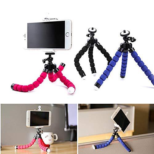 VFUM autohouder voor mobiele telefoons, flexibel, voor camera's, voor iPhone Xiaomi Huawei, Blauw