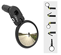 small Hafny Bar End Bicycle Mirror, Stainless Steel Mirror, Safety Rearview Mirror, HF-MR083 (Black 62mm)