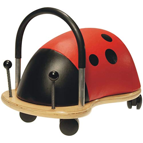Wheelybug Toddler Ride On Animal, Safety Certified Developmental Toy (Small, Ladybird)