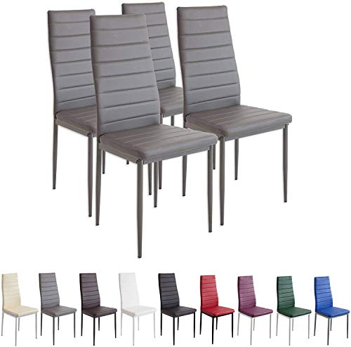 4X Set de Sillas de Comedor, Asiento y Respaldo Acolchado,Silla Cantilever,Set de 4 sillas Comedor Chelsea tapizadas,certificada por la SGS,de comedor para oficina, cocina, dormitorio,MAX Carga 120 kg