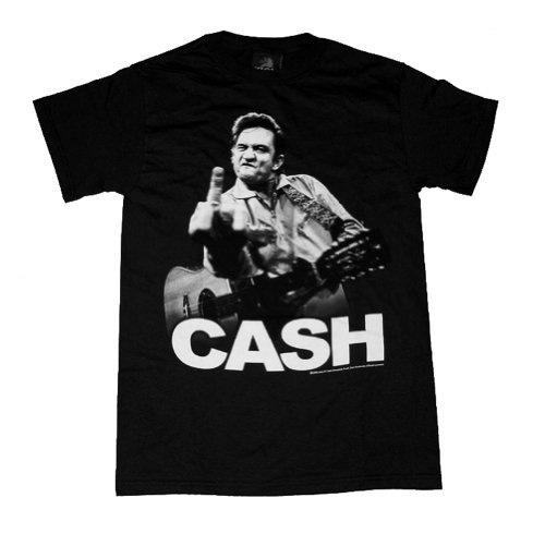 Johnny Cash Cash Flippin' T-Shirt Size LBlack