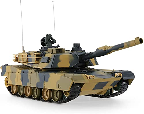 M1A2 Abrams USA Battle Tank RC 16' Airsoft Military Vechile - Desert Camouflage