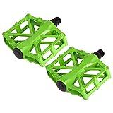 VGEBY1 Pedales de Bicicleta, Cuerpo de fundición de aleación Ligera de Aluminio, Pedal de cojinete Sellado para 9/16 MTB BMX Road Mountain Bike Cycle - 3 Colores Brillantes/Antideslizante(Verde)
