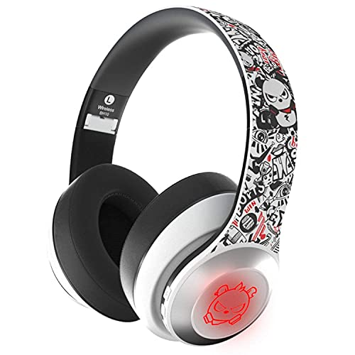 Bluetooth 5.0 Headphones,Dualpow Wireless Over Ear Gaming Homeschooling Headset 24Hrs Playtime Deep Bass microphone for IPHONE/ANDROID/IPAD/TABLETS/TV/Chromebooks & ONLY WIRED for PS4,Switch,XBOX (AW)