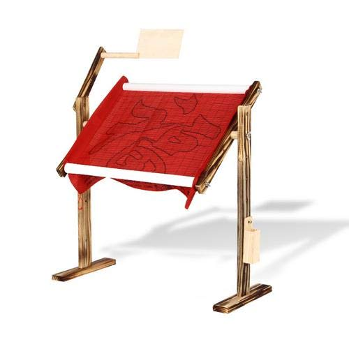 biliten Needlework Table and Lap Hands-Free Stand with Adjustable Frame, Cross Stitch Embroidery Frame Holder (L-45cm, W-21cm, H-47cm)