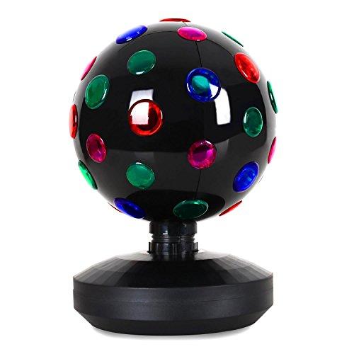 oneConcept Disco-Ball-8-B - Discokugel, LED-Leuchtkugel, Lichteffekt, 20 cm Durchmesser, motorisierte Drehbewegung, 9 LEDs, 43 Farblinsen,...