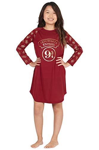 Harry Potter 9 3/4 Hogwarts Express Raglan Nachthemd - - 6-6X