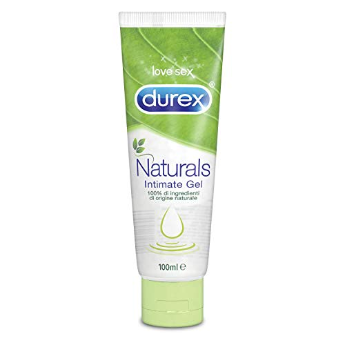Durex Naturals Gel Lubrificante Intimo con 100% Ingredienti Naturali, 100 ml