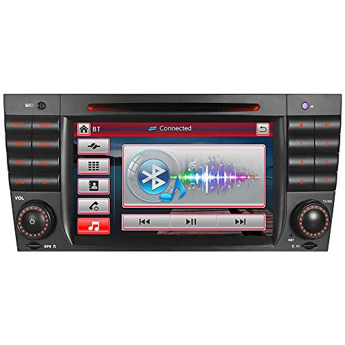 A-SURE DVD GPS Autoradio für Mercedes Benz CLK-W209(2006-11),CLK-W2019(2006-08),CLC(2004-07),C-Class/W203,C55 AMG/C63 AMG Navigation Bluetooth 7