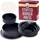 RZSAIDA Non Stick Burger Press Patty Maker + 40 Wax Paper Discs, Easy to Use, Dishwasher Safe, Works...