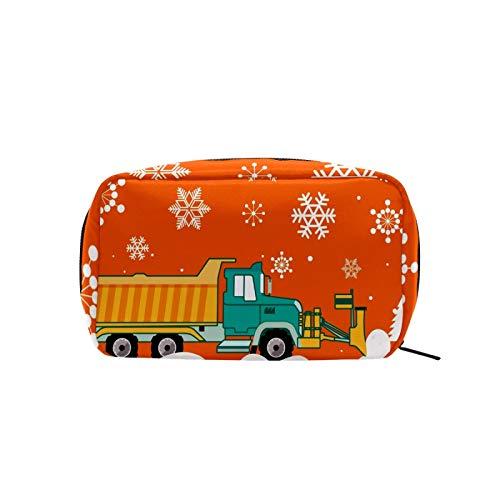 Kosmetiktasche mit weihnachtlichem Schneepflug für Frauen und Mädchen, leichte Kosmetiktasche, personalisierte Aufbewahrung, Kulturbeutel