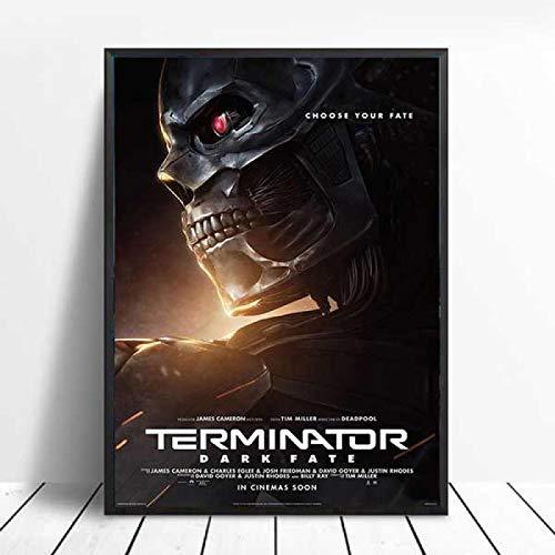 Terminator Dark Fate Classic Movie Series Arnold Schwarzenegger Wall Art Canvas Painting Poster Cuadros De Pared para Sala De Estar 40X50Cm Cdl-1733