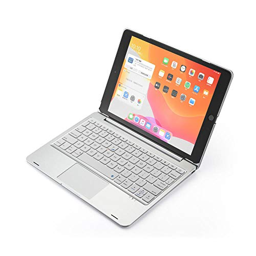 Keyboard Case For iPad 9.7 2018 Touchpad Backlight Wireless Bluetooth Cover For iPad 2017 Air 2 Air 1 Pro 9.7 inch Fundas-Silver_set