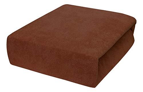 Drap housse avec élastique éponge 90x160, 90x180, 90x200 - 23 Farben 90x180,Chocolate Brown