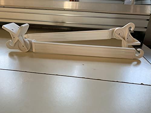 Generico Braccetti Per Tenda Da Sole A Caduta (1 Coppia) Con Supporti Di Fissaggio E Puntale In PVC, Misura 50 Cm, Regolabile A 180° (Colore Bianco)