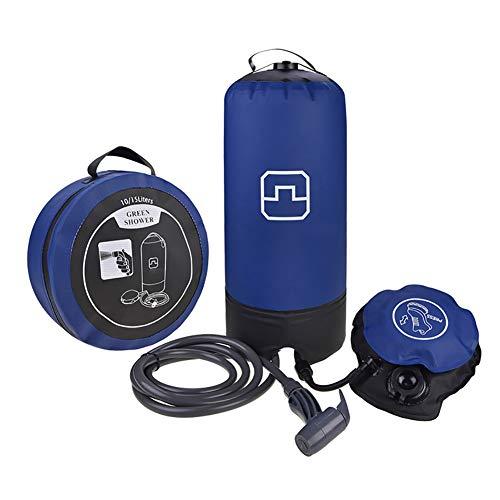 YYYUJ 11 Liter Solaranlage für warmes Duschwasser-Beutel, Schnell Dusche für Camping Dusche, tragbare Dusche mit Fußpumpe, Car Wash Bath