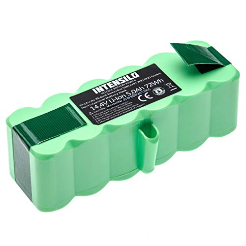 INTENSILO batería compatible con iRobot Roomba 896, 960, 965, 980, 985 aspiradora robot de limpieza (5000mAh, 14.4V, Li-Ion)