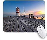 TARTINY ゲーミング マウスパッド,灯台レイクタワーの海岸線の空参照ブルゲンラント自然デザイン,マウスパッド レーザー&光学マウス対応 マウスパッド おしゃれ ゲームおよびオフィス用 滑り止め 防水 PC ラップトップ