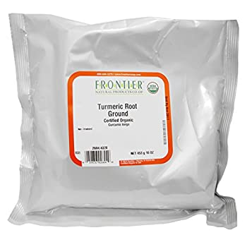 Frontier Natural Products Organic Ground Turmeric Root 16 Oz   Pack of 2