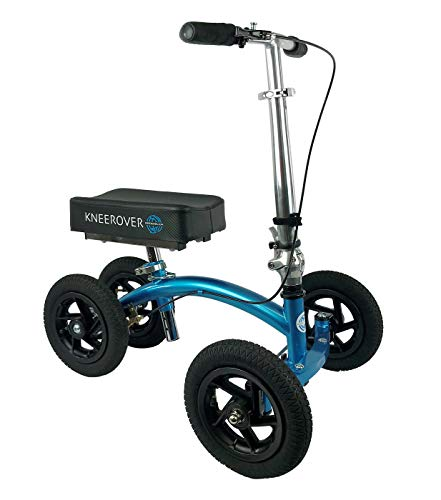 KneeRover QUAD Jr All Terrain Knee Scooter in Metallic Blue