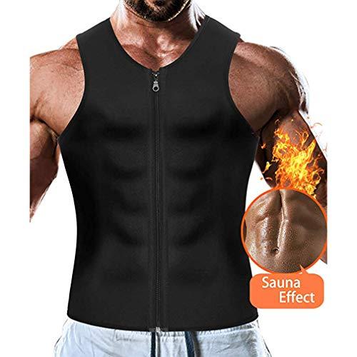 AidShunN Männer Taille Trainer Weste Neopren Abnehmen Body Shaper Sport für Gewichtsverlust Body Shaper Sauna Tank Top