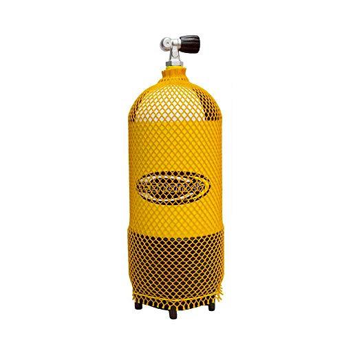 ACCB-52AZVAR - Red corta extra gruesa para botella de buceo 10L COLOR AMARILLO