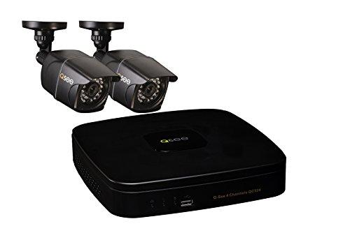 Q-See qc524–2e2–14Canales DVR Sistema de Seguridad con 2960H/700TVL Bullet cámaras y 1TB HDD