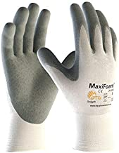 Protective Industrial Products 34-800/XS, G-Tek MaxiFoam, Premium Foam Nitrile Coated Palm and Finger Tips, White Nylon Liner, XS, 12 per Package