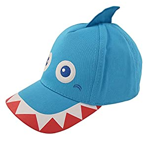 ABG Accessories Toddler Boys Cotton Baseball Cap with Assorted Animal Critter Designs (Age 2-4)