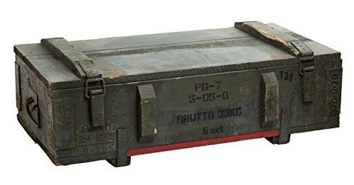 Caja de munición PTM-Caja para guardar CA CA 81x 51x 31cm Militar Caja Munitions Caja de madera caja de madera cajón-estantería manzana caja Shabby Vintage