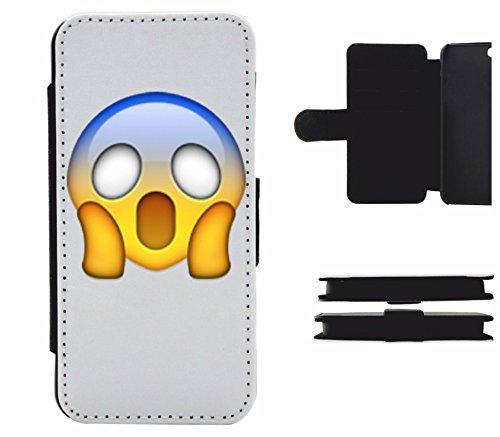 """Funda de piel con tapa """"Face ceño Face"""" para Apple Samsung- LG- Huawei- Sony- HTC/Teléfono celular tapa para iPhone 4,5,6,7- Galaxy S6, s7- -- P8- p9- con Smiley- Emoji Samsung Galaxy S3 Mini"""