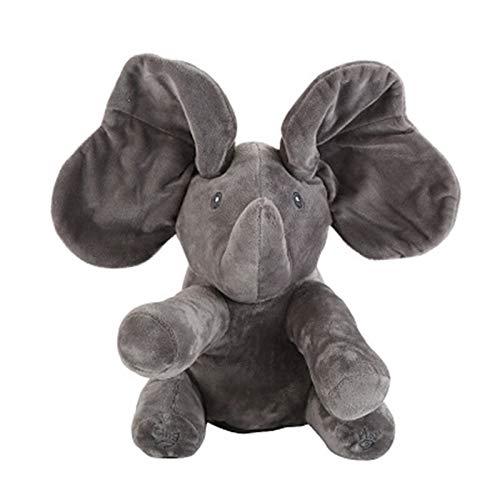 J-MWJ Música eléctrica de escondite y búsqueda de Elefantes con Juguetes de Peluche J-MWJ ( Color : A5 30cm )