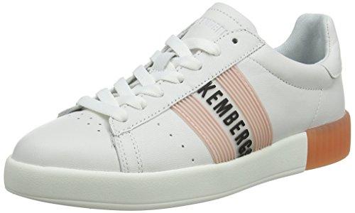 BIKKEMBERGS Damen Cosmos 2130 Sneaker, Weiß (White/PINK 830), 36 EU