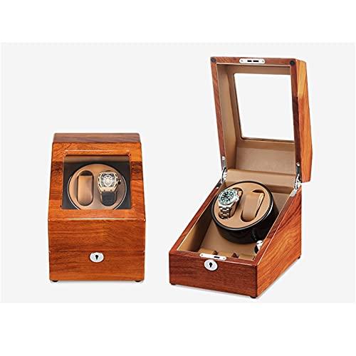 zyy Caja de Relojes Automaticos Estuche para 2+3 Relojes 5 Velocidades PU Super Silencioso Caja Organizadora de Relojes Hombre Mujer Madera de Reloj de Pulsera