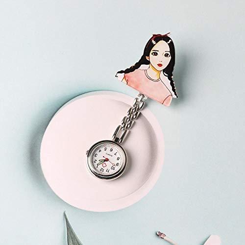 Reloj Médico de Bolsillo Colgante,Reloj Luminoso de Bolsillo para Mujer, Reloj de Pecho Impermeable de Dibujos animados-03,Reloj de Enfermera Digital