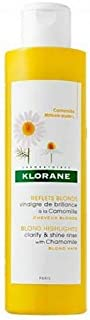Klorane Vinegar Shine Rinse with Chamomile for Blonde Hair, Removes Buildup, Revitalizes and Enhances Highlights and Shine - Ammonia Free
