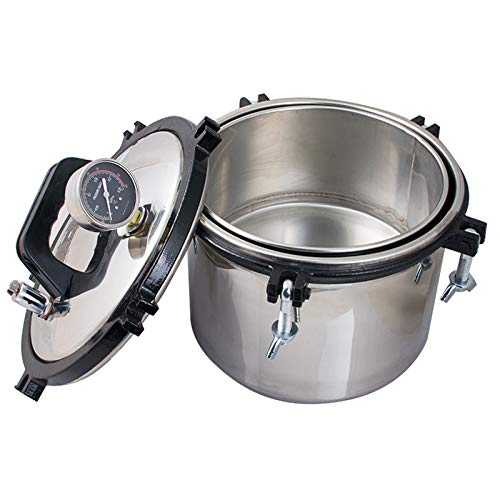 Lab Autoclaves 8L Portable Steam Sterilizer Stainless Steel Shell Pressure Canner