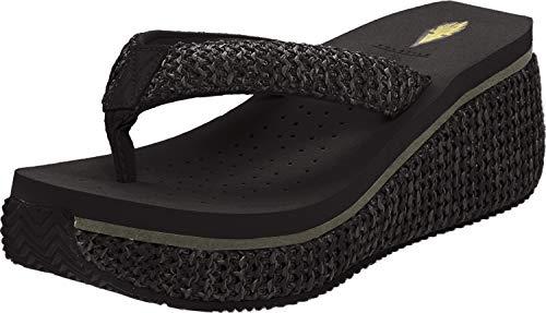 Volatile Women's Island Sandal,Black,11 B US