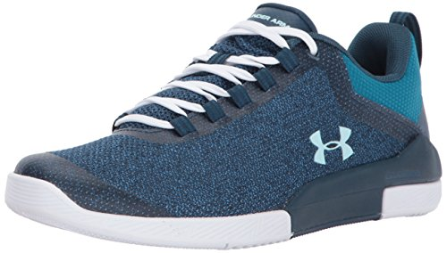 Under Armour Women's Charged Legend Hypersplice Sneaker, True Ink (400)/Bayou Blue, 8