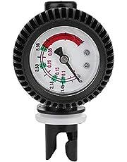 Keenso Manometer voor opblaasbare boten, 0-5.08 PSI barometer voor opblaasbare boten, kajaks/surfplanken/SUPBoard Raft (zwart)