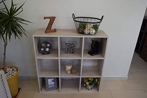 Mueble Organizador en 9 Cubos (Blanco Nordico)