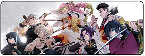 for Demon Slayer Kimetsu No Yaiba Anime Large Extended Gaming Mouse Pad Mat, Stitched Edges, Ultra Thick 3 mm, Wide & Long Mousepad 31.5' x 11.8' x 0.12' (DSMP3)