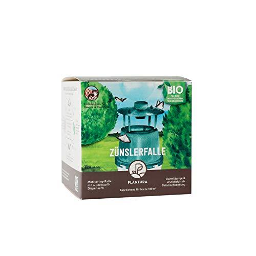Plantura Zünslerfalle, insektizidfreie Buchsbaumzünslerfalle mit Pheromonen, inkl. 6 Lockstoff-Dispensern