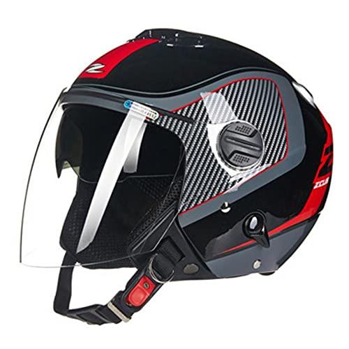 Casco de Moto Jet Abierto DOT/ECE Homologado,Casco de Patinete Eléctrico,Casco Moto de...