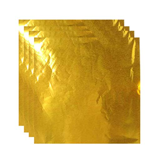 New UPKOCH 200pcs Imitation Gold Leaf Foil Paper for Arts Gilding Crafting Decoration Diy Wrapping P...