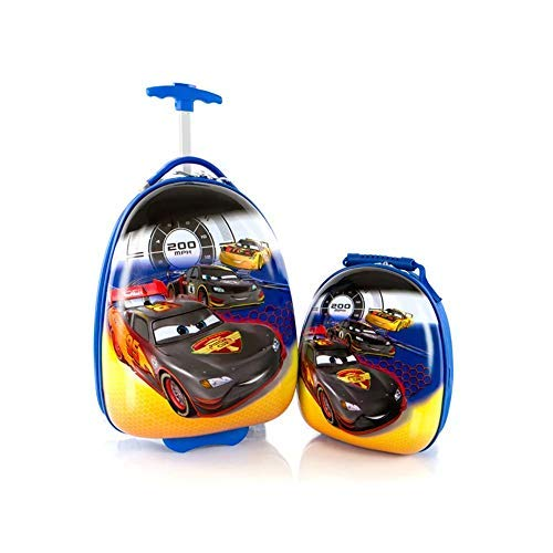 Disney Cars Luggage and Backpack Set for kids - Cars Backpack and Luggage 2 Pc Set - 18 Inch (Egg Shape)