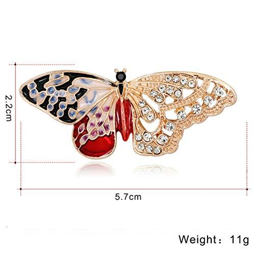 ERDING Brooch/Accessoires/Gouden Kleur Broche Insect Vlinder Broche Emaille Pins en Broches voor Vrouwen Diamant Metalen Pin Kristal Dier Sieraden Kerst
